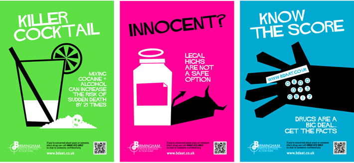 Birmingham Public Health Legal Highs Poster campaign