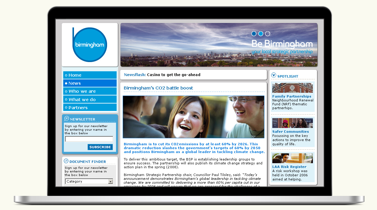 Be Birmingham Website 2