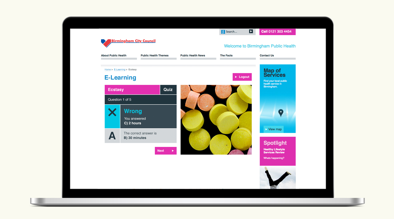 Birmingham Public Health Website E-Learning