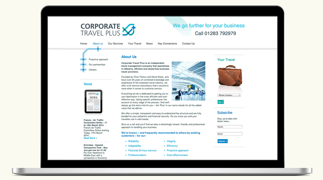 Corporate Travel Plus Website About Us