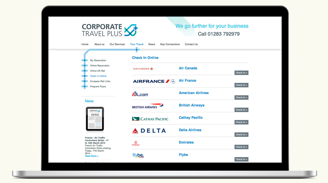 Corporate Travel Plus Website Your Travel