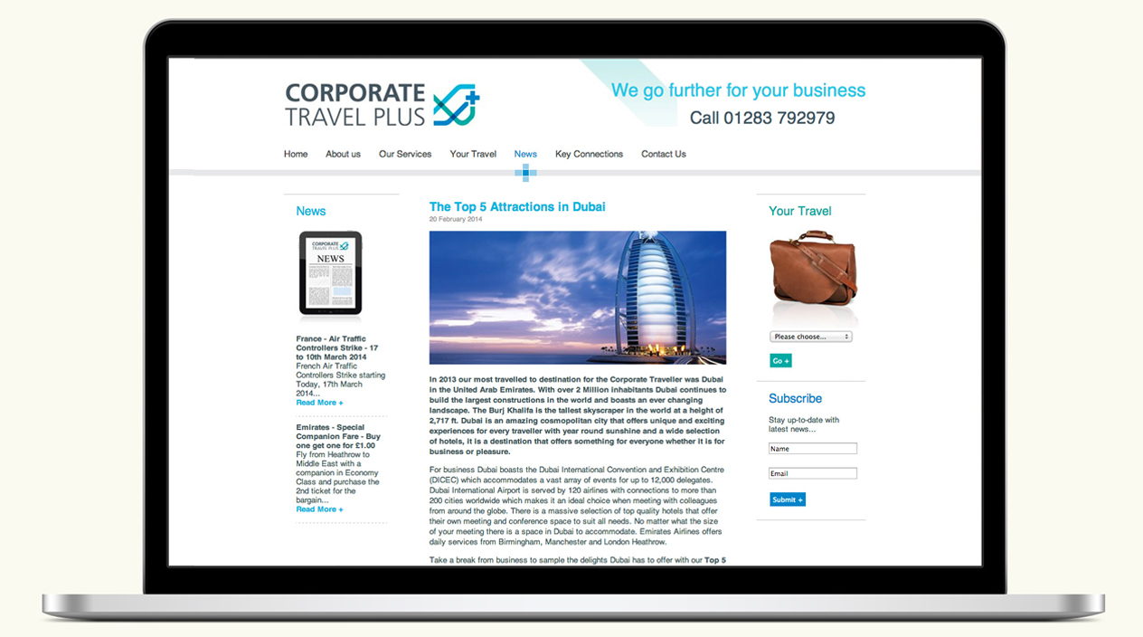 Corporate Travel Plus Website News