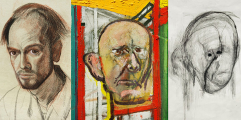 Losing yourself - Artist suffering from Alzheimer paints a series of self portraits charting the condition.