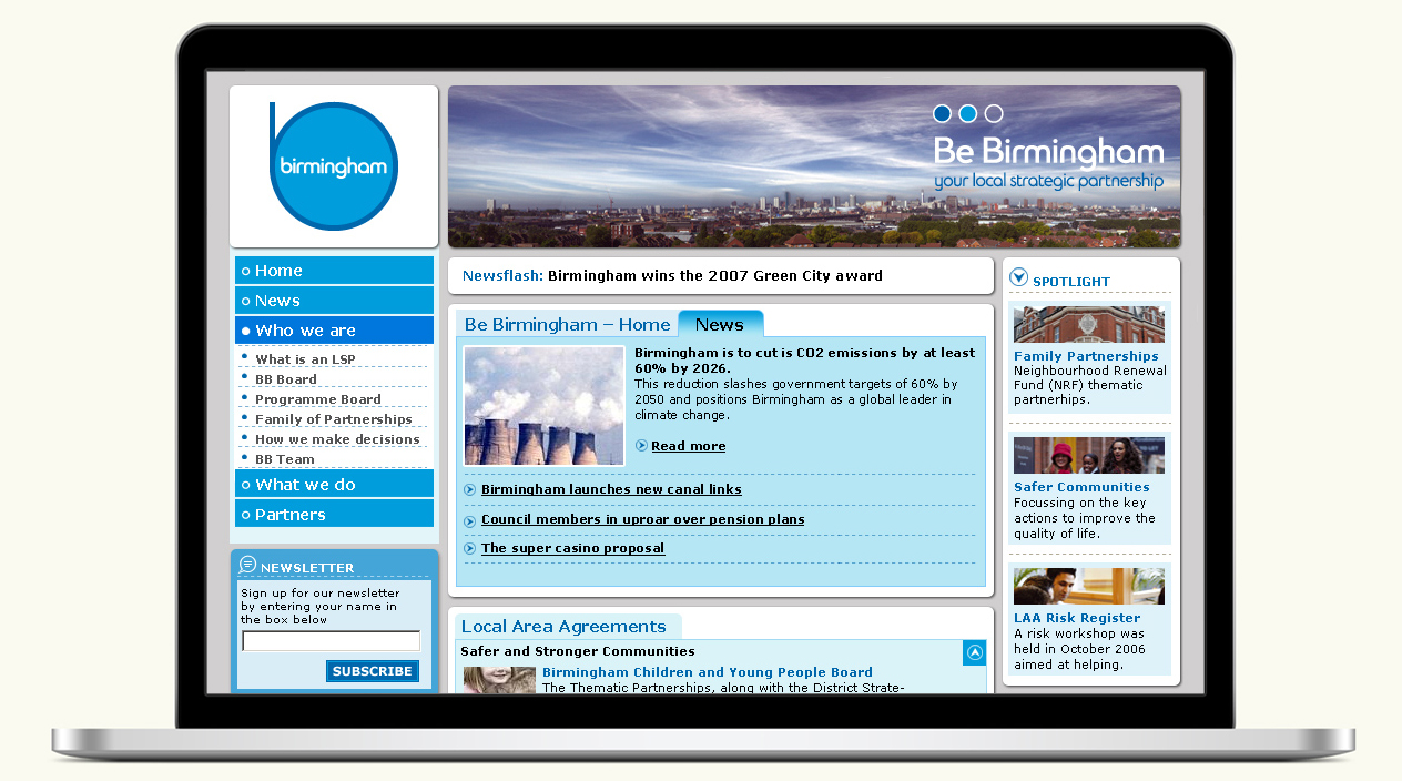 Be Birmingham Website