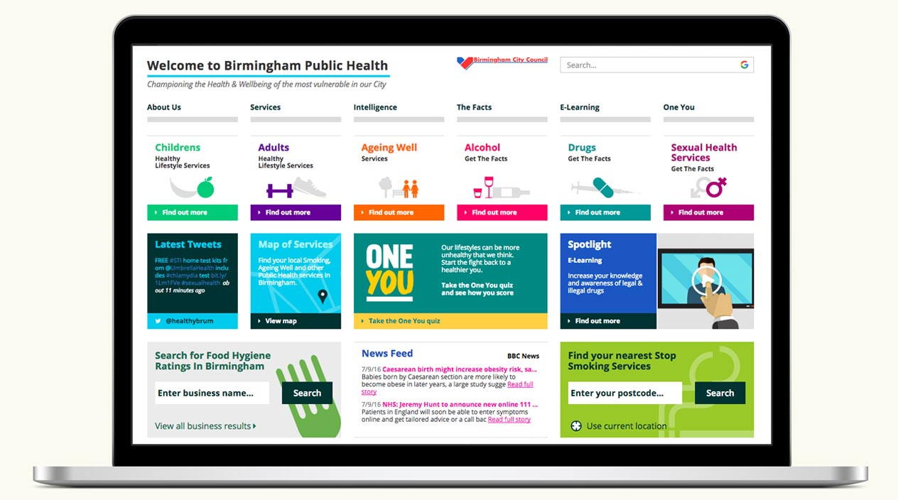 Birmingham Public Health Website Home