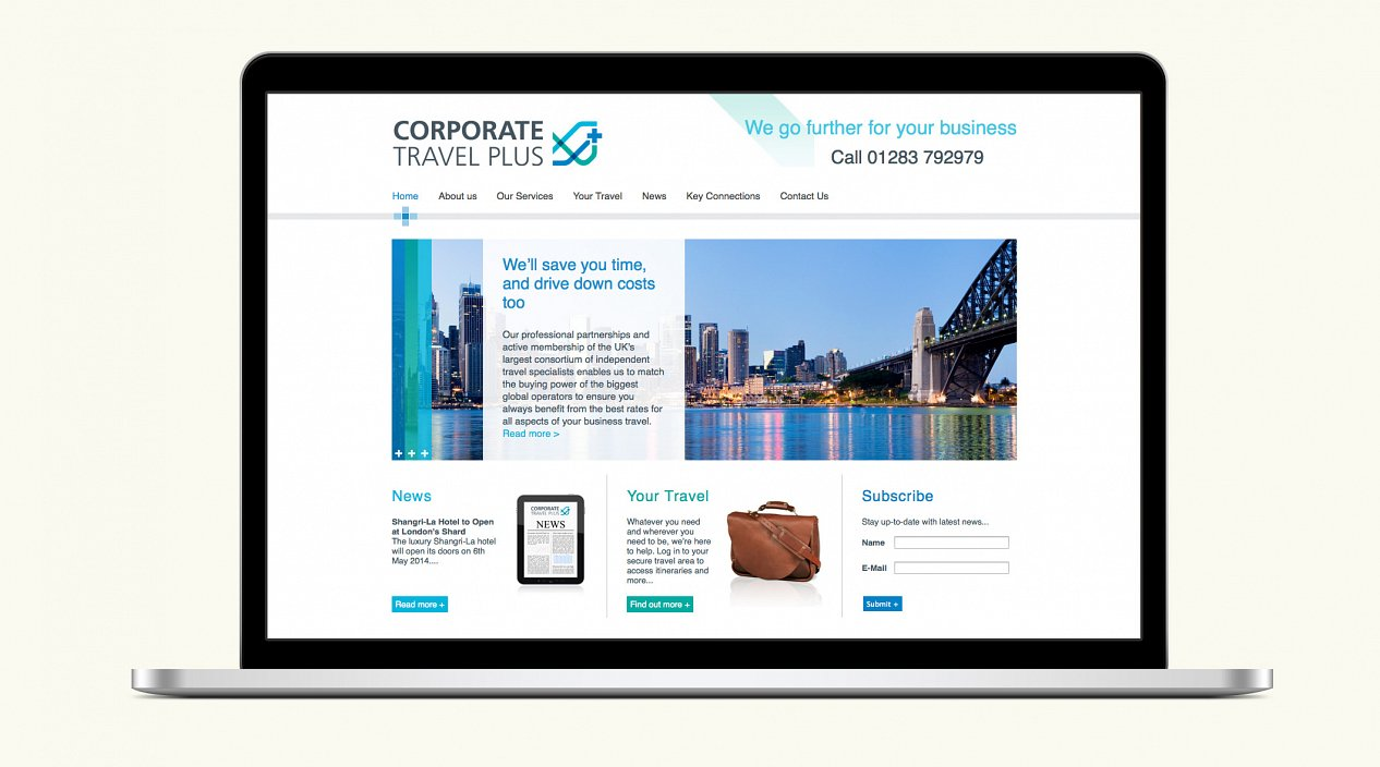 Corporate Travel Plus Website Homepage