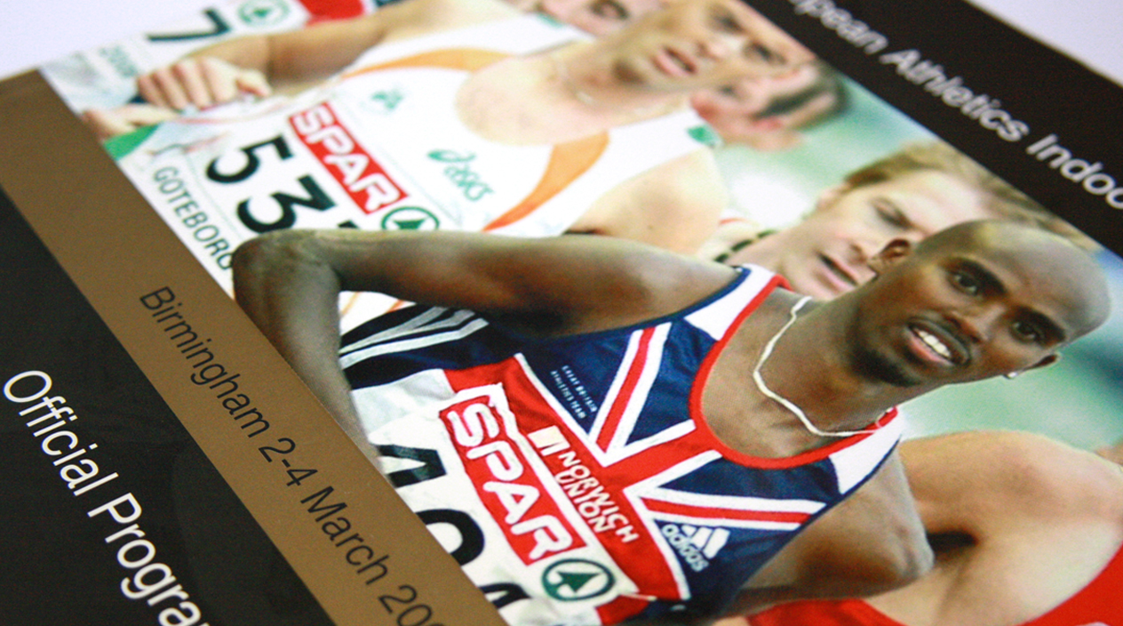 European Athletics Indoor Championships Brochure Cover