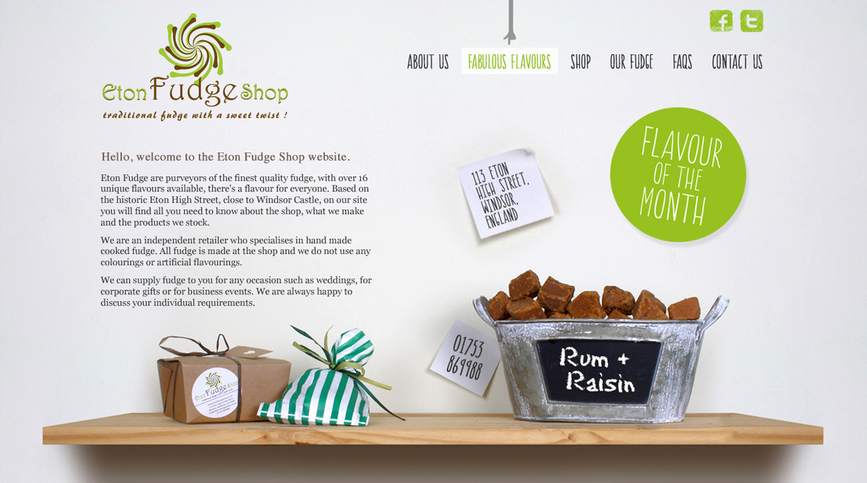 Eton Fudge Shop Home
