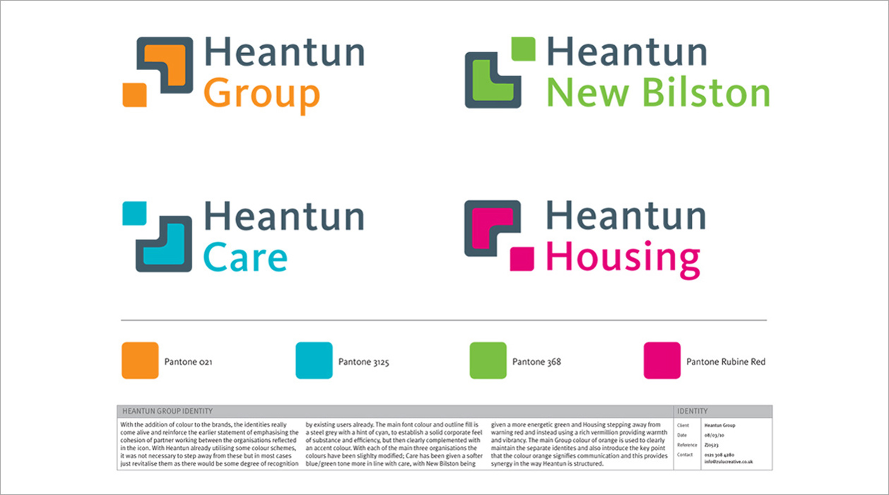 Heantun Group Logo Brand Identities