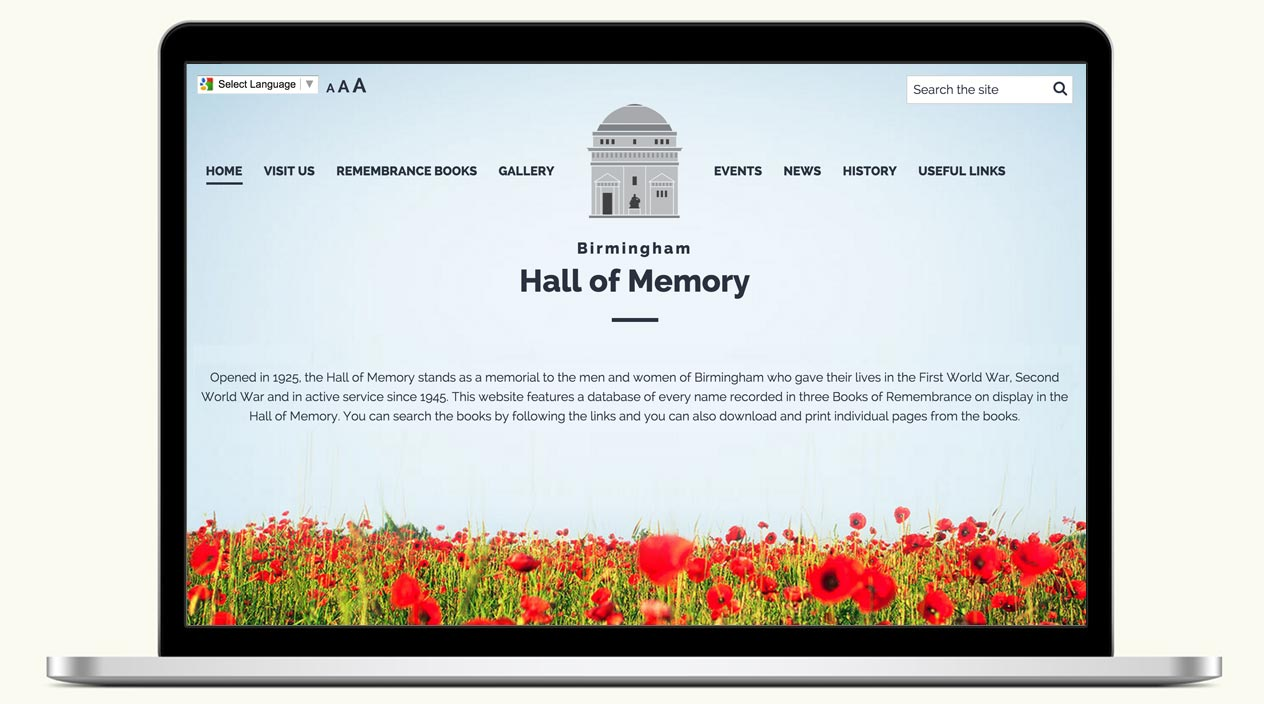 Hall of Memory, Birmingham - Website