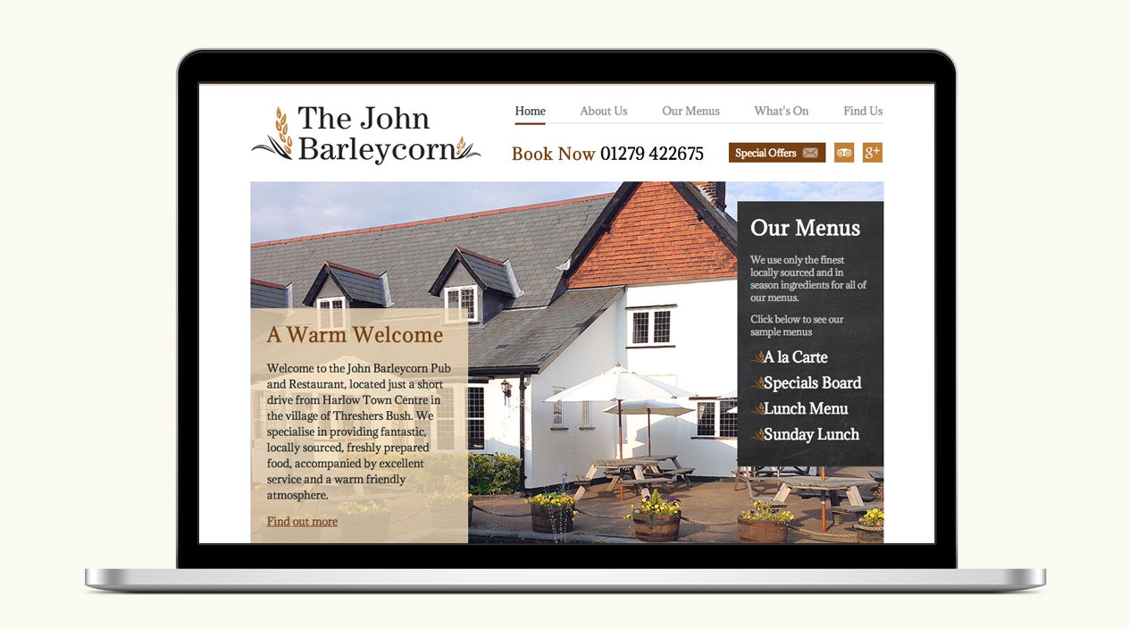 The John Barleycorn Website Homepage