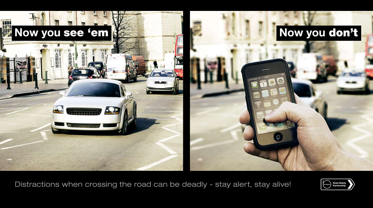 Now You See Em Poster - Birmingham Road Safety Partnership