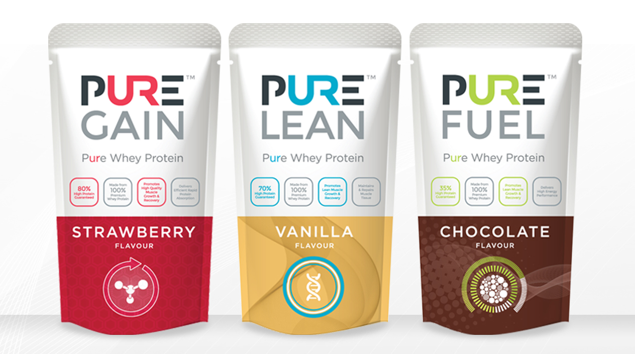 Pure Protein Gain, Lean & Fuel Packaging