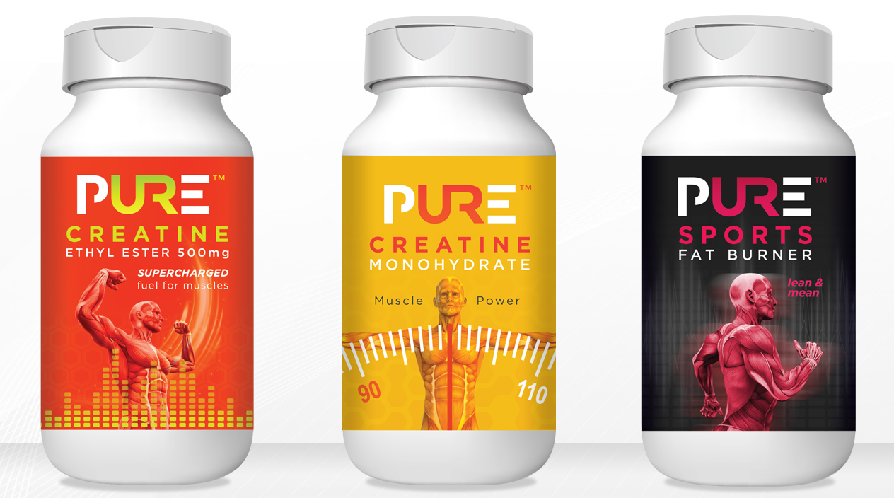 Pure Protein Sports Creatine & Fat Burner Tablets Packaging
