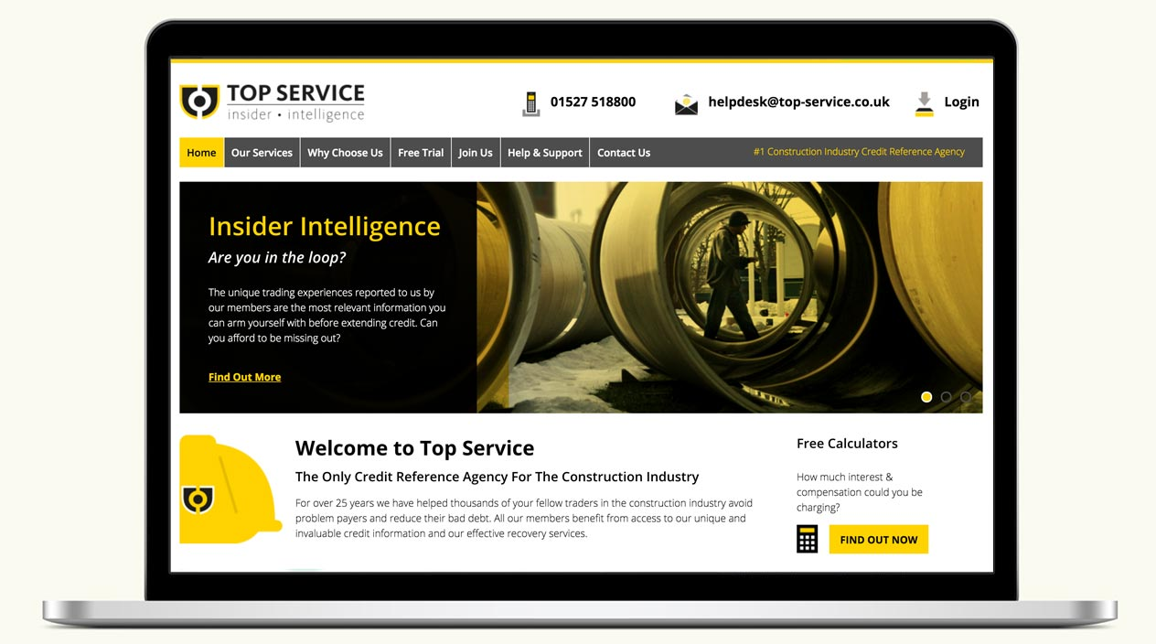 Top Service Website Home Page