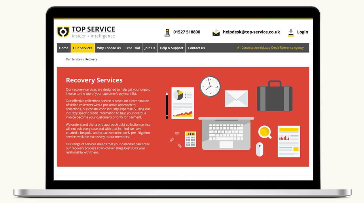 Top Service - Website - Recovery Services